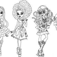 monster high coloring pages all characters free pirintibls free