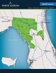Map Of North Florida Counties North Florida Economic Development Partnership