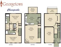3 story townhouse floor plans georgetown townhome community in jacksonville florida