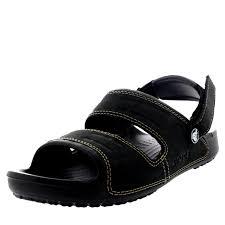 mens crocs yukon two strap holiday slippers beach mules summer
