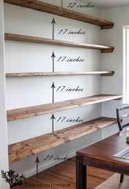 Simple Wood Shelves Plans by Best 25 Homemade Shelves Ideas On Pinterest Homemade Shelf