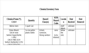 Chemical Inventory Template Excel by Simple Inventory Template 13 Free Word Excel Pdf Documents