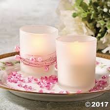 frosted wedding votive holders