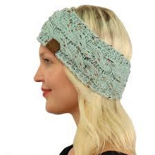 knit headband winter cc confetti fuzzy fleece lined thick knit headband headwrap