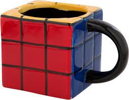 fun rubiks cube shape mug coffee and mugs pinterest coffee