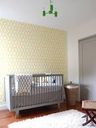 yellow nursery design transitional nursery