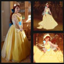Disney Princesses Halloween Costumes Adults Anastasia Cosplay Costume Princess Anastasia Yellow Donecosplay