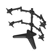 loctek full motion free standing quad monitor arm desk mounts