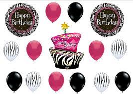 amazon com zebra stripe cake birthday party balloons decorations