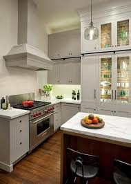 Glass Shelves For Kitchen Cabinets Stacked Glass Front Kitchen Cabinets Transitional Kitchen