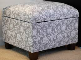 storage ottoman slipcover how to re cover an upholstered ottoman how tos diy