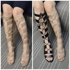 2015 spring summer fashion cool boots flat heels high leg boots
