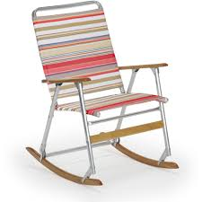 Folding Patio Chairs With Arms by Telescope Casual Telaweave Folding Aluminum Rocking Beach Chair