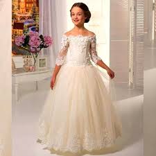 kids wedding dresses aliexpress buy new wedding gowns kids the shoulder