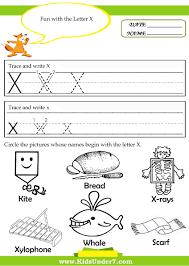 preschool and kindergarten tracing letter x sheetstokids
