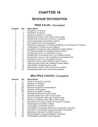 ch18 revenue recognition