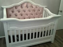 Gray Convertible Cribs by Millbury Custom Tufted Convertible Crib Kids Furniture In Los