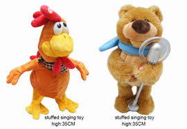 Singing Stuffed Animals Oem Musical Singing Plush Toys For Childrens Manufacturer