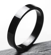 black titanium rings 2015 new arrival 4mm width black titanium ring for men and women