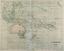 Oceania Map Map Of Oceania 1854