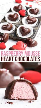 heart chocolates 4 ingredient raspberry mousse heart chocolates the loopy whisk