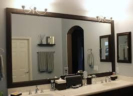 Bathroom Mirrors Ideas With Vanity Master Bathroom Mirror Ideas L Shaped Brown Finish Mahogany