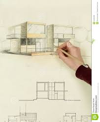 woman u0027s hand drawing architectural sketch of house royalty free