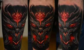 scary 3d fired mask tattoo for arm golfian com