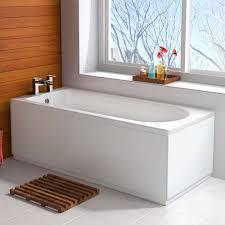 1600mm round single end modern straight bath white bathroom