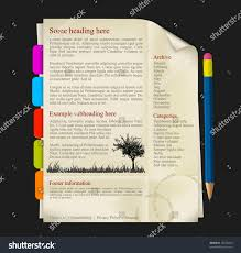 Interdum Magna Augue Eget by Web Site Template Sheet Paper Tabs Stock Vector 78230254