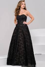 black long a line lace strapless sweetheart neckline dress