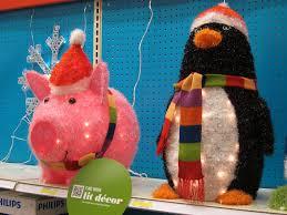 light up pig lights decoration