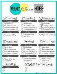 best 25 weekly cleaning schedule printable ideas on