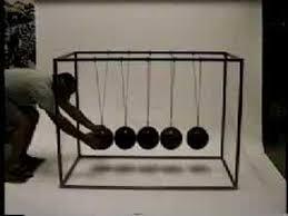 Swinging Desk Balls Click Clack Kinetic Sculpture Giant Newton U0027s Cradle Toy With