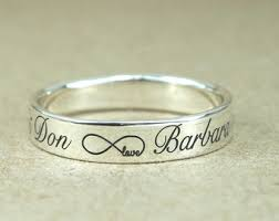 custom engraving jewelry infinity ring etsy