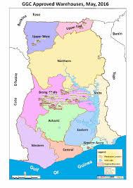 Accra Ghana Map List Of Certified Warehouses Ghana Grains Council