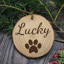 christmas family dog u0027s personalised wooden tree decoration u2013 luxe