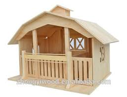 Toy Barns Cute Wooden Horse Barn Stable Doll House Minature Toys Buy