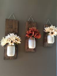 home decor flower fall wall sconce individual mason jar sconce flower vase mason