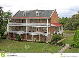 colonial house stock photos image 36179463