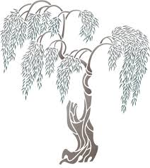 willow tree trees topiary stencil design from stencil