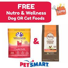food coupons free nutro wellness dog or cat food coupons deals at petsmart