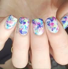 saran wrap splatter nails coffee u0026 nail polish