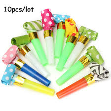 birthday supplies 10pcs small colorful whistles kids childrens birthday party