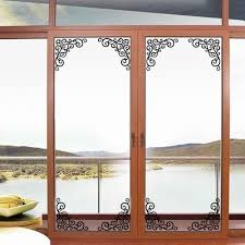 Door Decals For Home by Fake Metal Scroll Wall Art Mural Decor Sticker Window Cabinet Wall