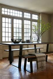 kitchen perfect rustic kitchen table with bench featuring metal