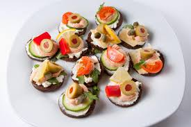 mini canape mini canapes stock image image of starter fresh 20646727