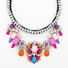 multi rope necklace images Color crush collar necklace multi color chunky statement rope jpg