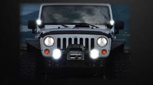 light yellow jeep piaa lp 570 led light kit youtube
