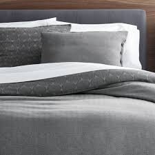 parker reversible duvet covers and pillow shams crate and barrel